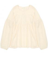 Блуза с кружевной отделкой Chloé