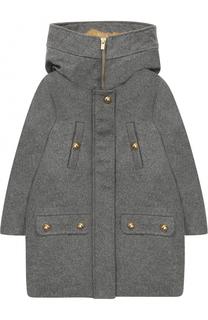 Шерстяное пальто с капюшоном Chloé