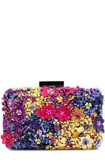 Клатч Goa с цветочной аппликацией Oscar de la Renta