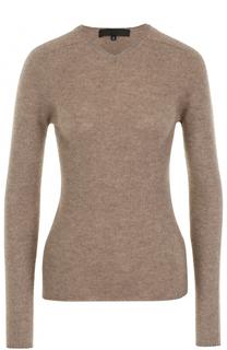 Шерстяной пуловер с V-образным вырезом Tegin