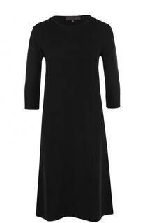 Шерстяное платье-миди с укороченным рукавом Tegin
