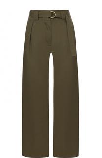 Укороченные широкие брюки с поясом T by Alexander Wang