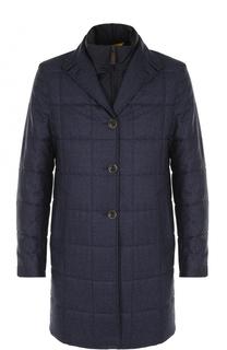 Утепленное шерстяное пальто с подстежкой Canali