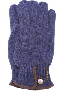 Шерстяные перчатки с замшевой отделкой Paul&Shark Paul&Shark