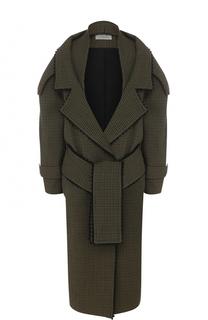 Шерстяное пальто с поясом PREEN by Thornton Bregazzi