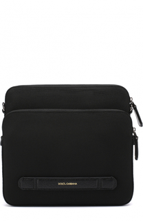 Текстильная сумка-планшет с двумя отделениями на молнии Dolce & Gabbana