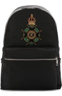 Текстильный рюкзак с аппликацией Dolce & Gabbana