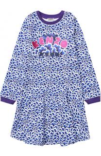 Хлопковое платье с принтом Kenzo