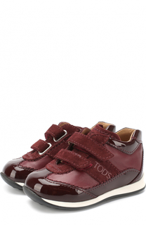 Комбинированные кроссовки с застежками велькро Tod's Tods