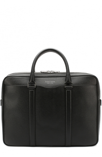 Кожаная сумка для ноутбука с двумя отделениями на молнии BOSS
