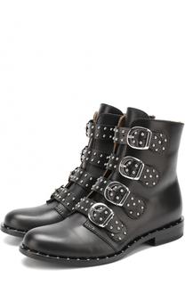 Кожаные ботинки на молнии с декоративной отделкой Gallucci