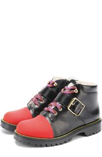 Кожаные ботинки с внутренней меховой отделкой Gallucci