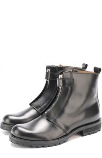 Высокие кожаные ботинки на молнии Gallucci