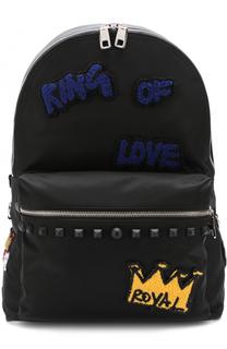 Текстильный рюкзак с контрастными нашивками Dolce & Gabbana