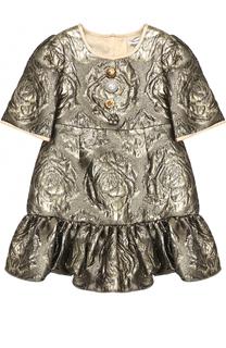 Приталенное платье с фактурной отделкой Dolce & Gabbana