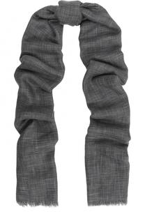 Шарф из смеси кашемира и шелка с необработанным краем Loro Piana