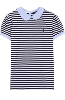 Хлопковый топ в контрастную полоску Polo Ralph Lauren