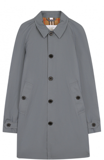 Хлопковое пальто свободного кроя Burberry
