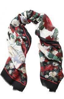 Шарф с цветочным принтом Dolce & Gabbana