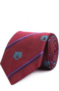 Шелковый галстук с принтом Kenzo