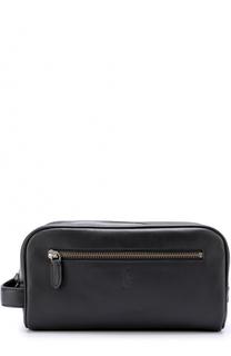 Кожаный несессер на молнии Polo Ralph Lauren