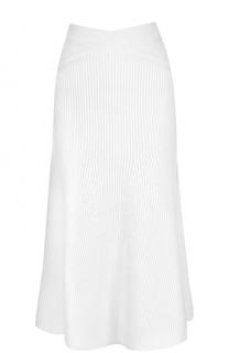 Шерстяная юбка-миди фактурной вязки Victoria Beckham