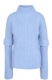Шерстяной свитер фактурной вязки Victoria Beckham
