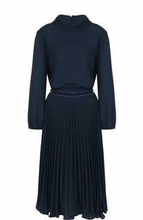 Приталенное платье-миди с плиссированной юбкой Tara Jarmon