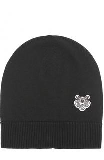 Шерстяная шапка бини с логотипом бренда Kenzo