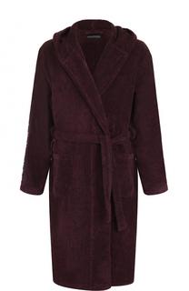 Хлопковый халат с капюшоном Emporio Armani