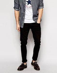 Черные зауженные джинсы Nudie Jeans Tight Long John - Черный