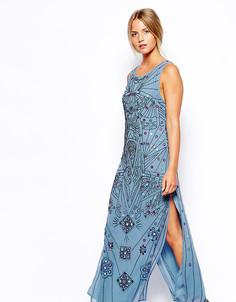 Платье миди с зеркальной отделкой эксклюзивно для ASOS PETITE - Мульти