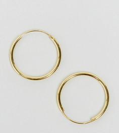 Позолоченные серебряные серьги‑кольца 20 мм ASOS - Золотой