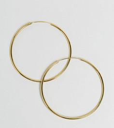Позолоченные серебряные серьги‑кольца 60 мм ASOS - Золотой