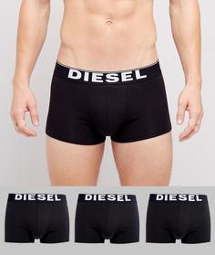 3 пары боксеров-брифов из эластичного хлопка Diesel - Черный