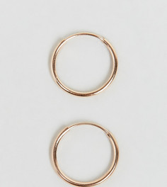 Серебряные серьги-кольца 9 мм с покрытием из розового золота ASOS - Медный