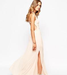 Платье макси с открытой спиной Goldie - Розовый