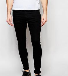 Черные эластичные супероблегающие джинсы Liquor N Poker - Черный