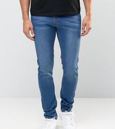 Эластичные зауженные джинсы цвета индиго Liquor N Poker - Синий