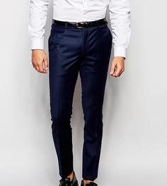 Шерстяные супероблегающие брюки скинни Heart & Dagger - Синий