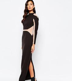 Платье макси с сетчатыми вставками The 8th Sign - Черный