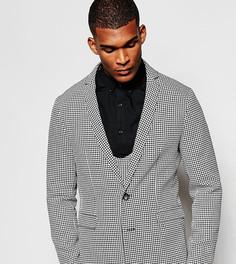 Зауженный пиджак в ломаную клетку Reclaimed Vintage - Черный