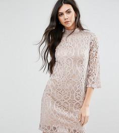 Кружевное платье с рукавами до локтя Vero Moda Tall - Кремовый