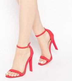 Cандалии на каблуке ASOS HARNESS - Красный