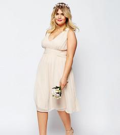 Платье миди ASOS CURVE WEDDING - Розовый