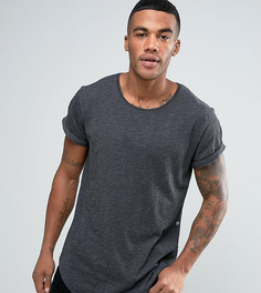 Черная удлиненная футболка свободного кроя с круглым вырезом G-Star Be RAW Vontoni - Черный