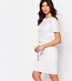 Платье-футляр с укороченным топом и отделкой True Decadence - Розовый