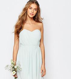 Шифоновое платье‑бандо мини TFNC WEDDING - Зеленый