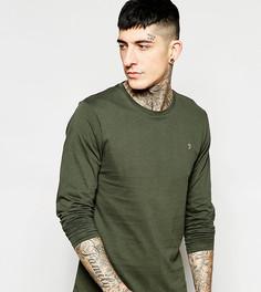 Эксклюзивная футболка слим с логотипом F Farah - Зеленый