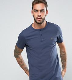 Эксклюзивная футболка хенли узкого кроя Farah - Темно-синий